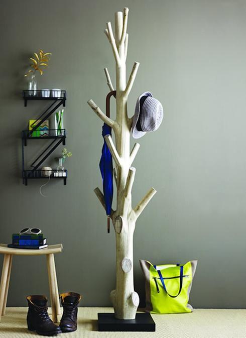Patère en forme d'arbre