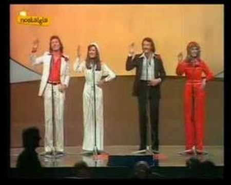 "Brotherhood of Man performing  ""Save Your Kisses for Me"" won the Eurovision Festival in 1976. Delicious coreography!!"