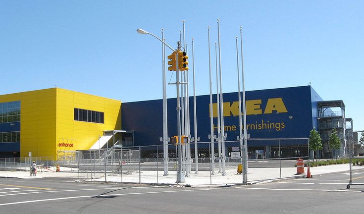 North side of the Ikea store before opening - Red Hook, Brooklyn