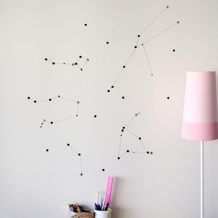 diy constellation wall decor | south by north