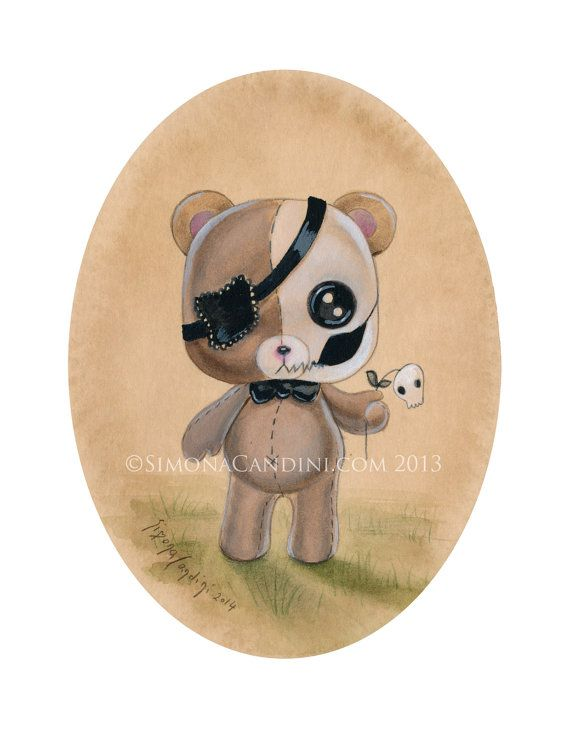 Poor Teddy LIMITED EDITION print signed by SimonaCandiniArt, $30.00