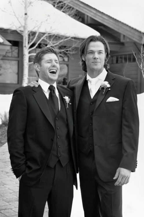There were each other's groomsmen and if you don't think that's cute then don't talk to me