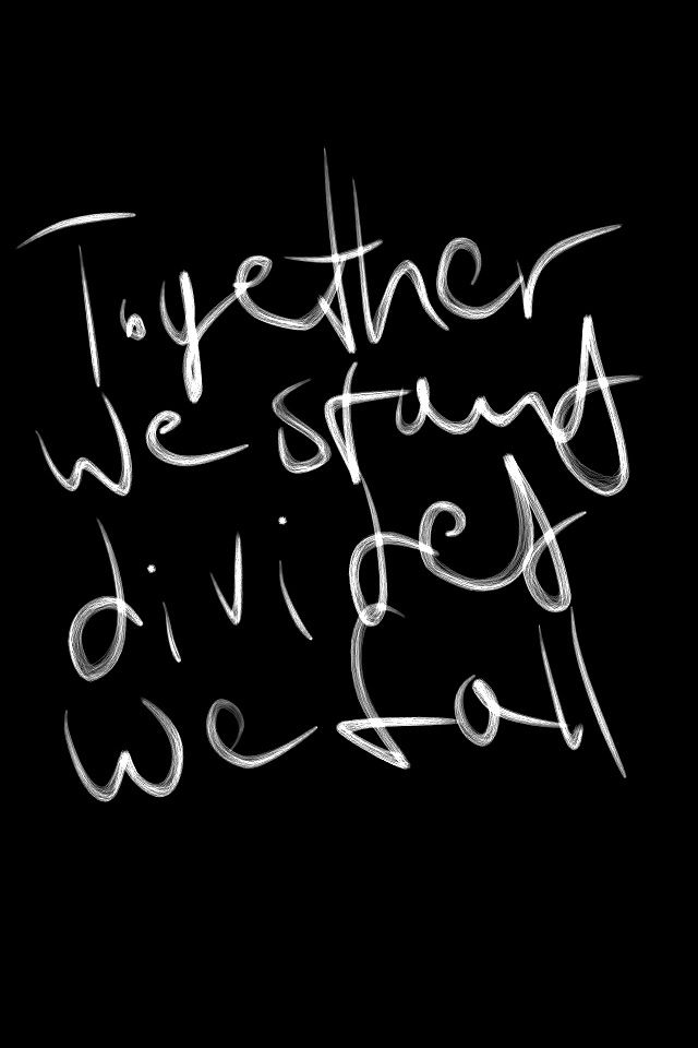Together we stand, divided we fall. Hey You by Pink Floyd