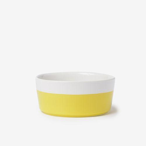 Cuenco cerámica amarillo S