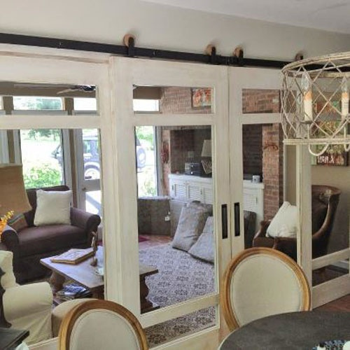Modern Barn Door Hardware   Contemporary   Dining Room   Salt Lake City    By Rustica Hardware