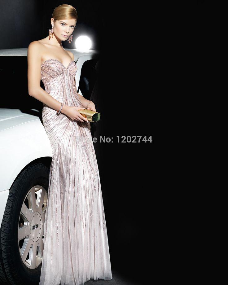 Бальные Платья Горячие Продажа Благородный Vestido Молния Sexy Очаровательная Элегантный Платье С Блестками Платья Знаменитостей Милая Hand Made