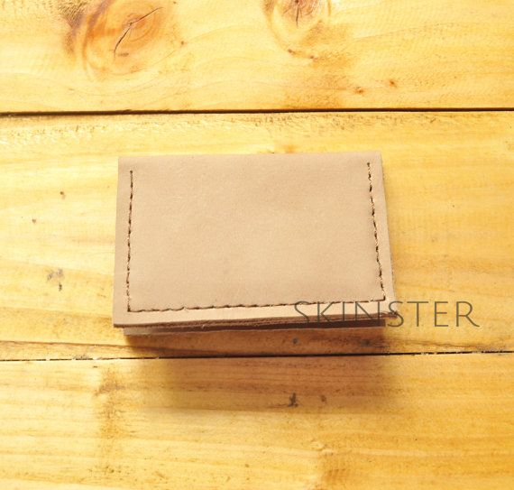 Simple Small Card Wallet 100% Genuine Cow by SkinsterLeatherGoods