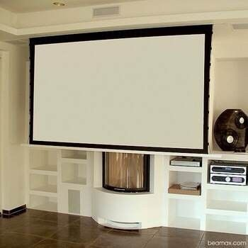 Hidden In Ceiling Electric Projection Screen With Remote Control Motorized Reccessed Projector For Home Cinema Find Complete Details