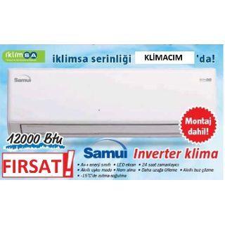 İKLİMSA SAMUİ SMU12INVDMB 12000BTU A++ İNVERTER KLİMA