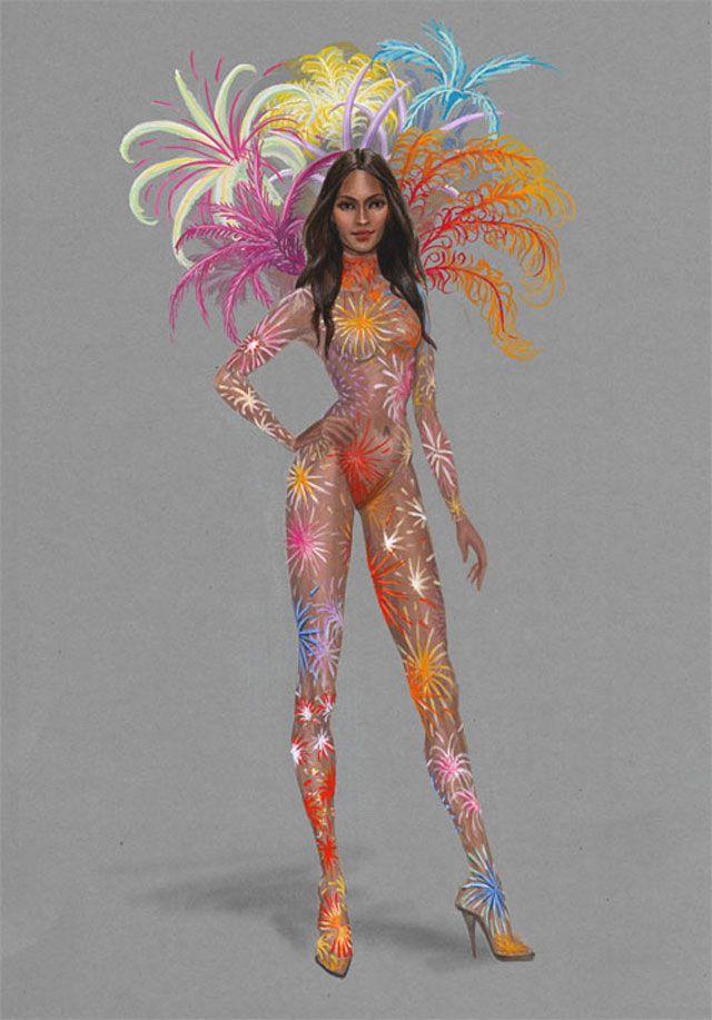 Chaque année les anges de Victoria's Secret assurent le show avec des tenues époustouflantes. Découvrez en avant-première les croquis de leurs looks pour le défilé 2015.