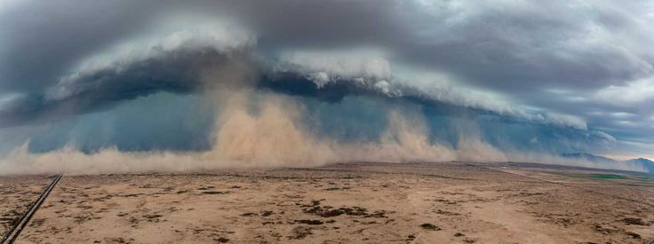 Haboobs are caused by strong winds blasting out of a thunderstorm, kicking up the loose sand and dust.