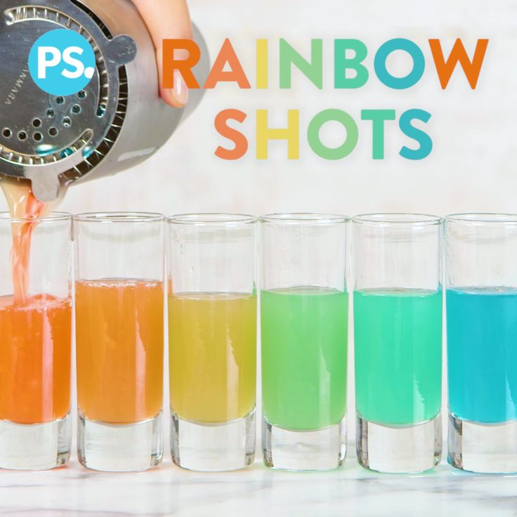 Dazzle yourself and your friends at your next party by pouring out these pretty rainbow shots. While they don't take a ton of ingredients, it does take a little practice to perfect them, so get your shot glasses ready and let's pour!