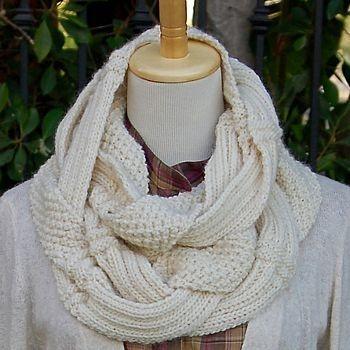 Challah infinity scarf pattern