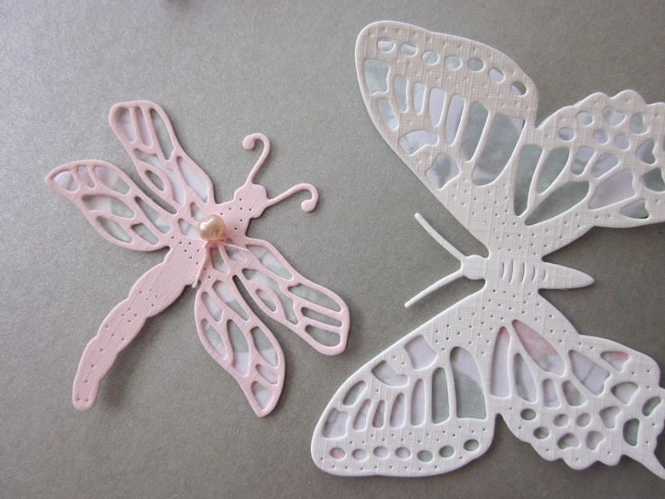 3d paper butterfly and dragonfly wall art set in a mix of