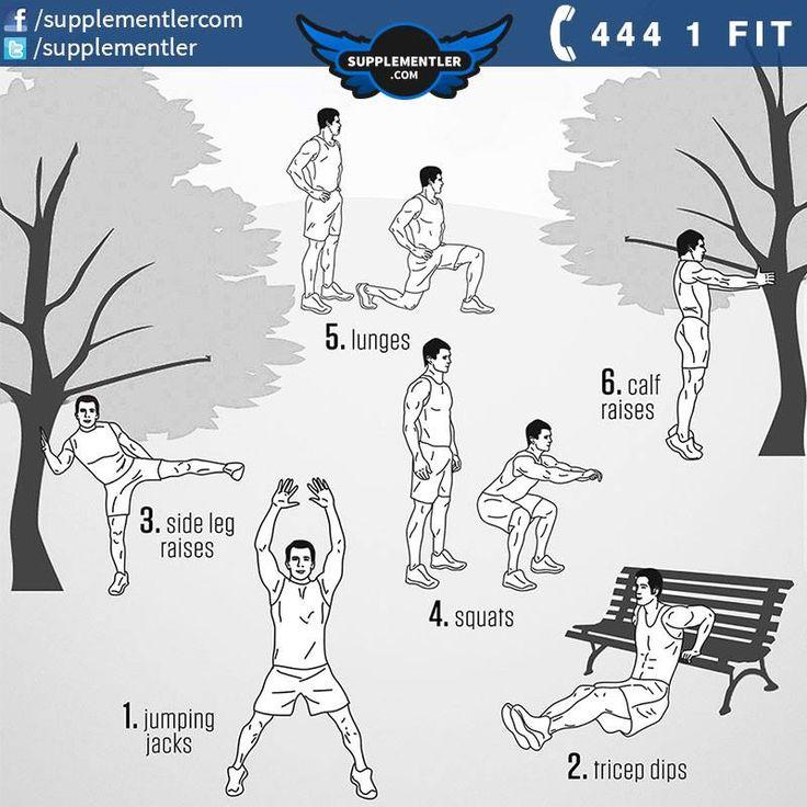 Hafta sonu yürüyüşlerinizde ya da koşu aralarınızda programınıza ekleyeceğiniz bu hareketler ile hem formunuzu koruyabilir hem de tüm vücudunuzu çalıştırabilirsiniz. Hareket tekrar sayılarını kendi formunuza göre belirleyebilirsiniz. Kendi limitinizin altına düşmeyin yeter. #spor #workout #vücutgeliştirme #workoutflow #workouttime #fitness #fitnessaddict #fitnessmotivation #fitnesslifestyle #bodybuilding #supplement #health #healthy #workout #fitness #crossfit #supplement #motivation
