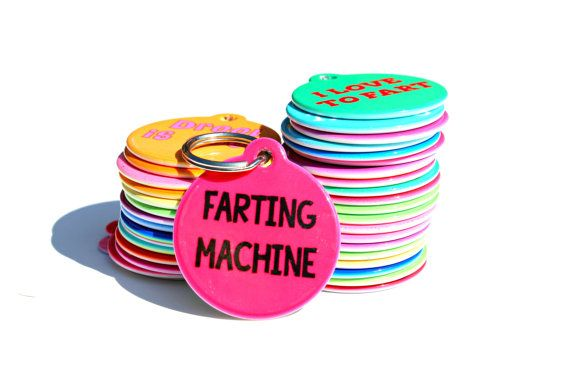 for your dog perhaps? Farting Machine Funny Personalized Custom Pet Dog Tag ID
