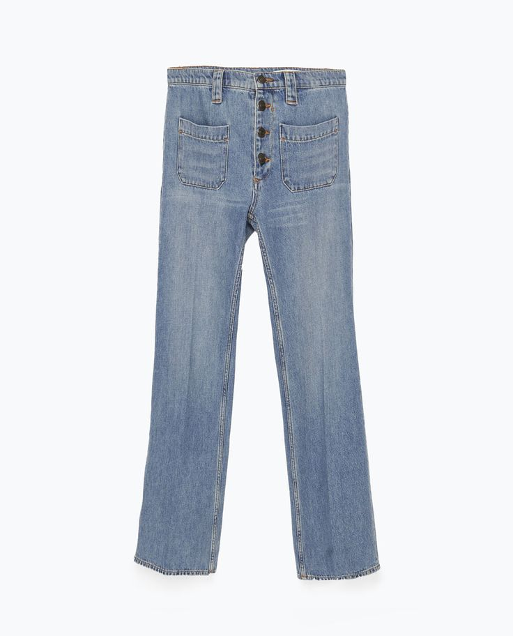 Image 7 of SHORT FLARED JEANS from Zara