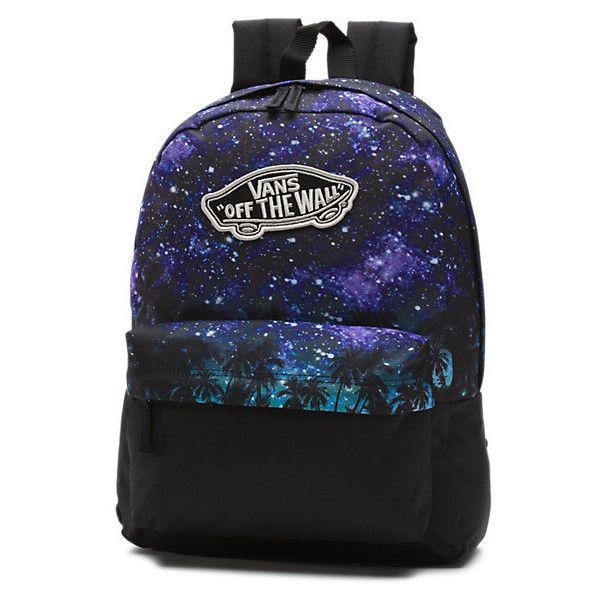 Realm Divide Backpack (51 CAD) ❤ liked on Polyvore featuring bags, backpacks, palm night, rucksack bag, polyester backpack, blue backpack, vans bag and knapsack bag