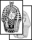 egyptian Tattoos, pharaoh Tattoos, tut Tattoos, king tut Tattoos, blackwork Tattoos, black work Tattoos,