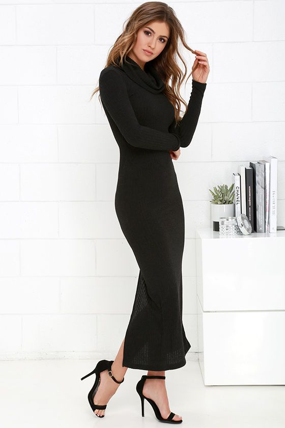 1000  ideas about Black Long Sleeve Dress on Pinterest  Long ...