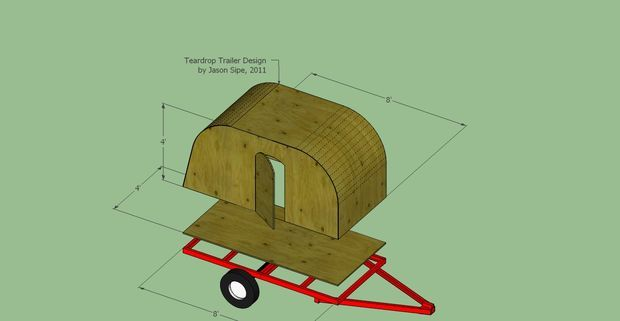 Design and Build Your Teardrop Trailer. This guy did it for $500. Really basic, but that might be a good thing.