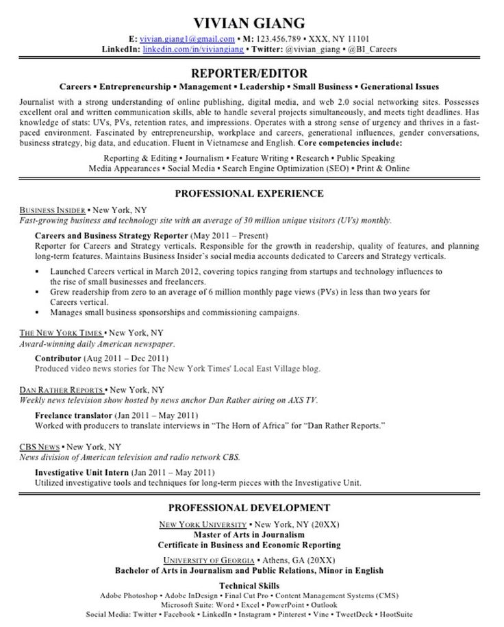 58 best resumes letters etc images on Pinterest Career, Resume - what to write in skills section of resume