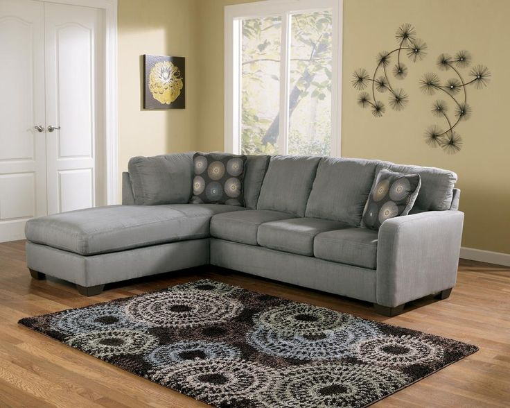 My Couch Zella   Charcoal Contemporary Sectional Sofa With Left Arm Facing  Chaise By Signature Design By Ashley At Furniture U0026 Bedding