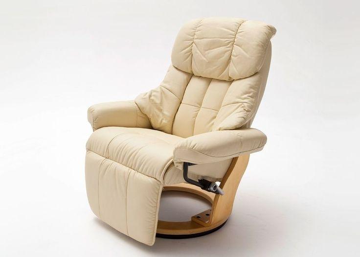 Relaxsessel Calgary 2 Leder Creme Fuß Natur 8847. Buy now at https://www.moebel-wohnbar.de/relaxsessel-calgary-2-fernsehsessel-leder-creme-fuss-natur-8847