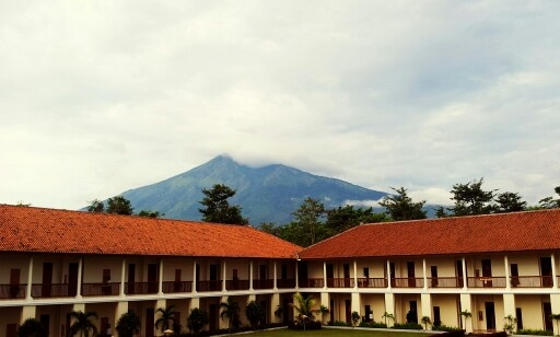 Mt. Merbabu, viewed from Salib Putih, Salatiga