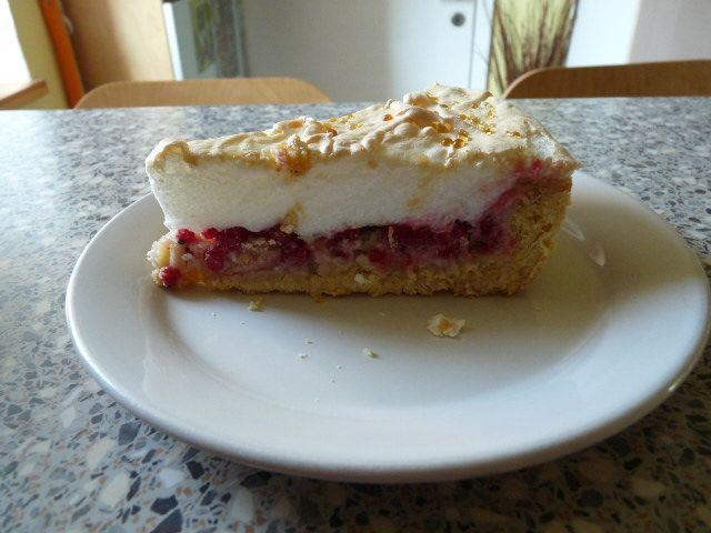 Rybízový linecký koláč se sněhem