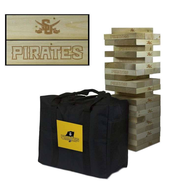 Southwestern Pirates Tumbling Tower Tailgate Lawn Game