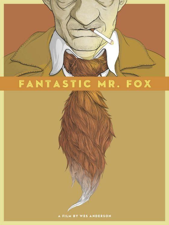 Fantastic Mr Fox poster by Randy Ortiz