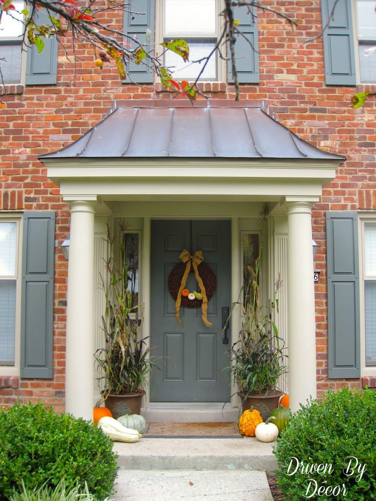 Front Door Porch Part - 45: Decorating My Front Porch For Fall