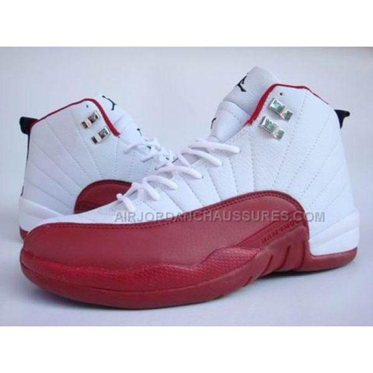 Air Jordan Nike 12 XII Retro Baskets Blanc/Rouge, Prix : $80,67 - jordan,air jordan,jordan pas cher,air jordan pas cher,air jordan femme,air jordan chaussures