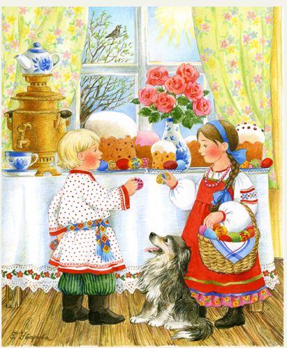 Художница Елена Уварова. Еще у нее кошечки и собачки чудесные.