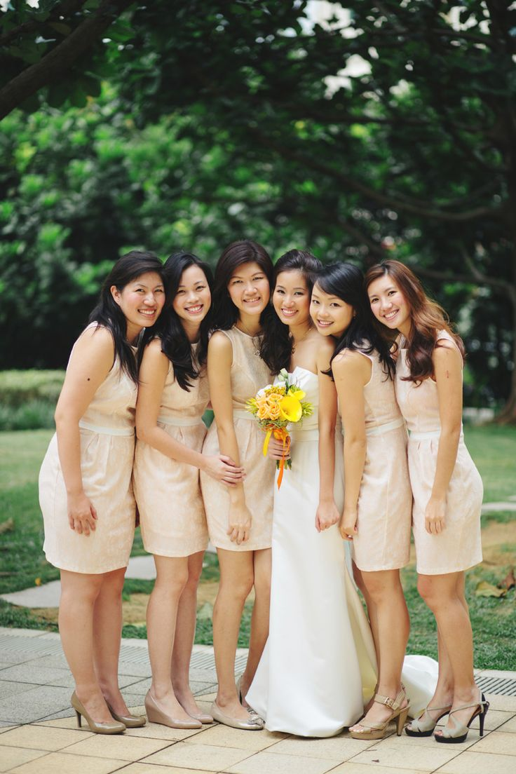 The 25 best bridesmaid dresses singapore ideas on pinterest john and rui yings green and white wedding at singapore botanic gardens ombrellifo Gallery
