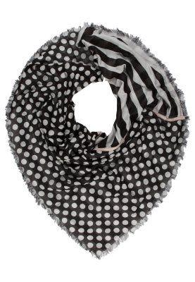 Scarf - grey/black dots
