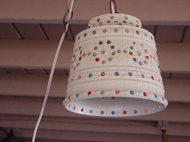 Retro Hanging Light Flowerpot Light Lawnware Light Rv