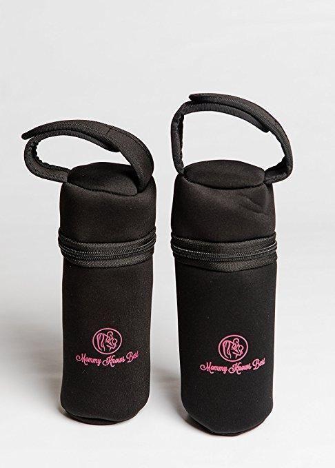 Individual Baby Bottle Cooler Bag: Insulated Breast Milk Storage for Single Warmer or Cooler Babybottle - Fits up to 8 oz Breastmilk Bottles - Portable Nursing Bottle Travel Carrier Holder Tote
