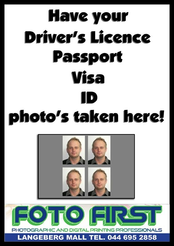Foto First Mossel Bay is your one-stop Photography Shop. Remember to pop in for your Driver's Licence, Passport, Visa & ID photographs