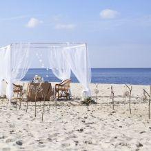 Место для церемонии росписи на пляже