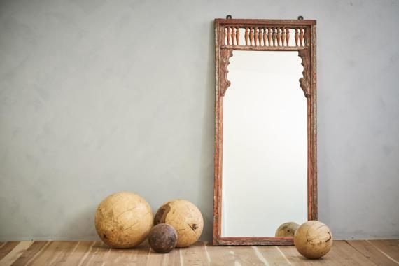Full Length Mirror Floor Mirror 29 x 64 Wall Mirror Antique