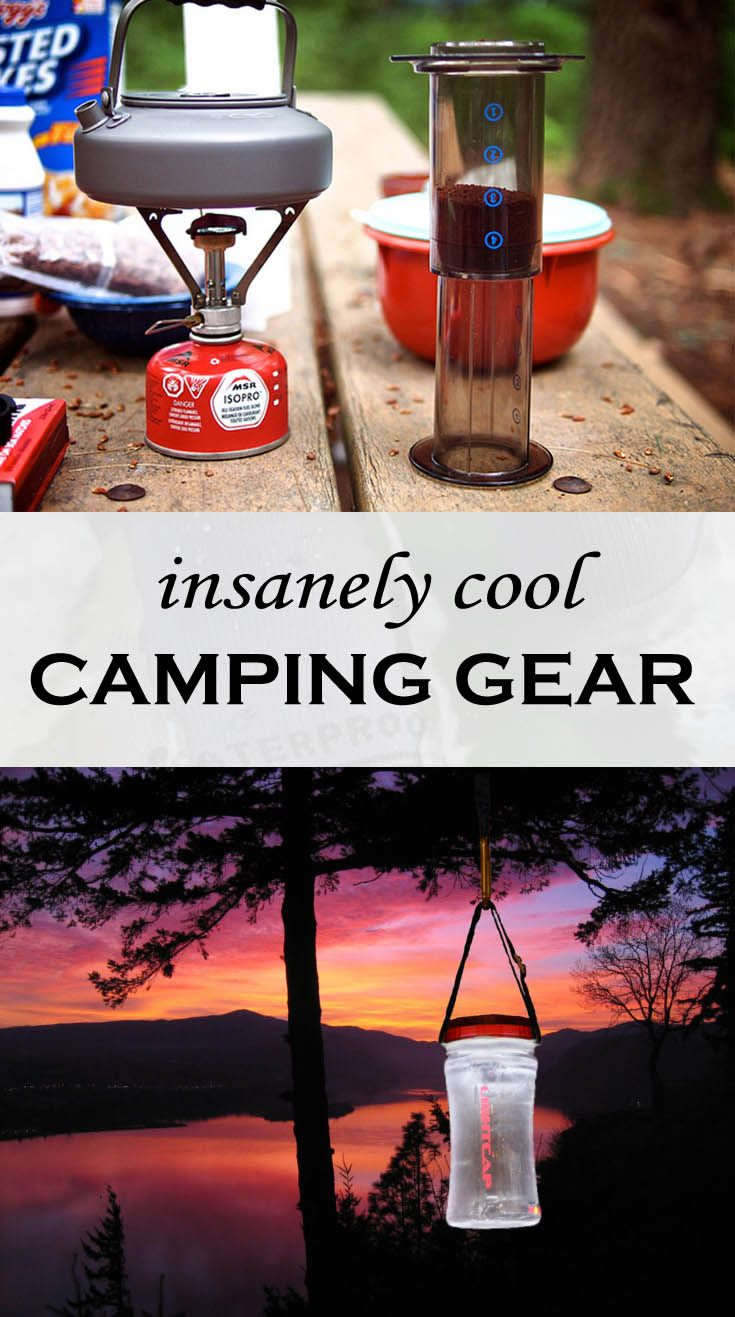 You don't necessarily need this camping gear, but it is so cool that you'll want it anyway!