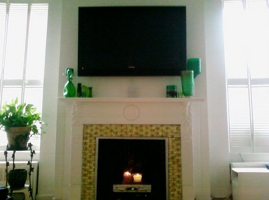 How to decorate a non-working fireplaceLiving Room