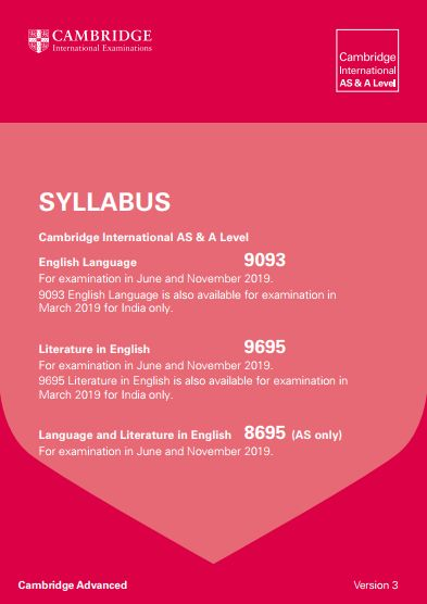 Creative writing a-level syllabus cambridge