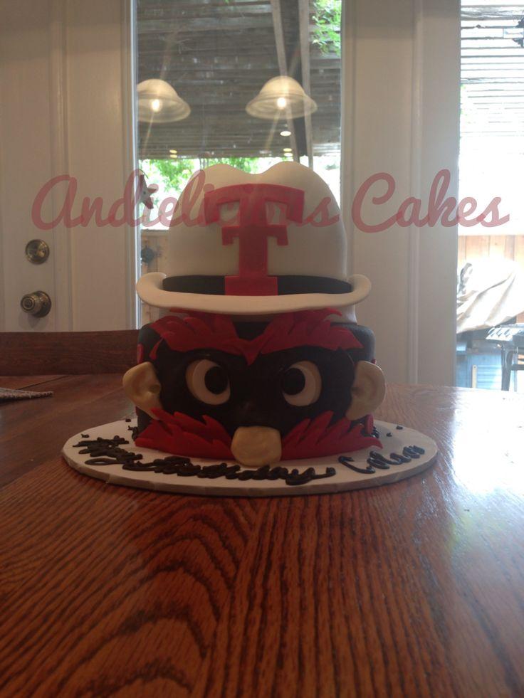 Texas Tech Cake   Raider Red