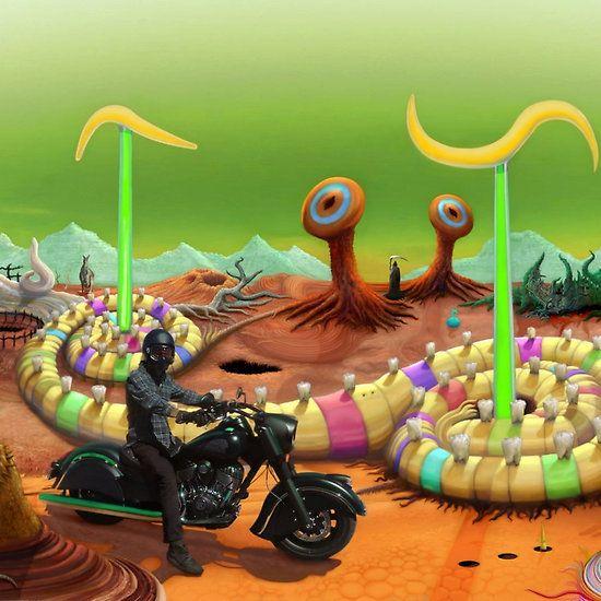 Riding through the Bad Lands