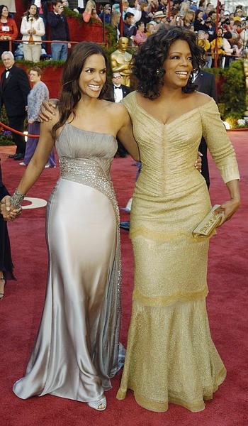 Oprah Winfrey Right Shown Here With Halle Berry At The February 2005 Academy Awards In Los Angeles Has Beautiful Clothes Various Sizes Many Of Which