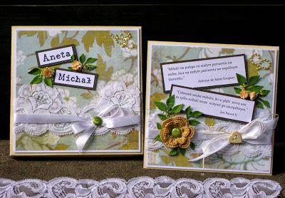 Ślubna kartka z cytatami i pudełkiem