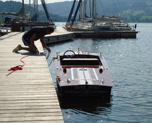 Schnelles 69er Mahagoni-Sportboot mit 30 kW-Elektromotor